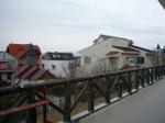 清里駅 駅前の街はとってもおされな建物がならんどる。